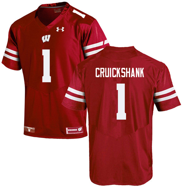 Men #1 Aron Cruickshank Wisconsin Badgers College Football Jerseys Sale-Red