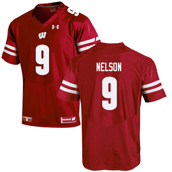 Men #9 Scott Nelson Wisconsin Badgers College Football Jerseys Sale-Red