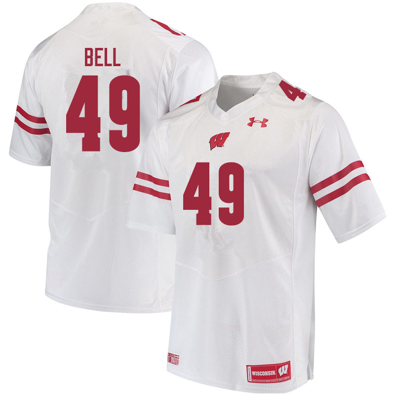 Men #49 Christian Bell Wisconsin Badgers College Football Jerseys Sale-White