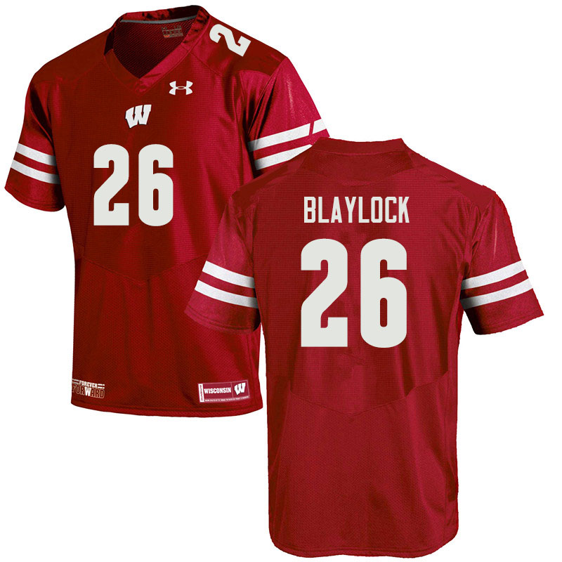 Men #26 Travian Blaylock Wisconsin Badgers College Football Jerseys Sale-Red