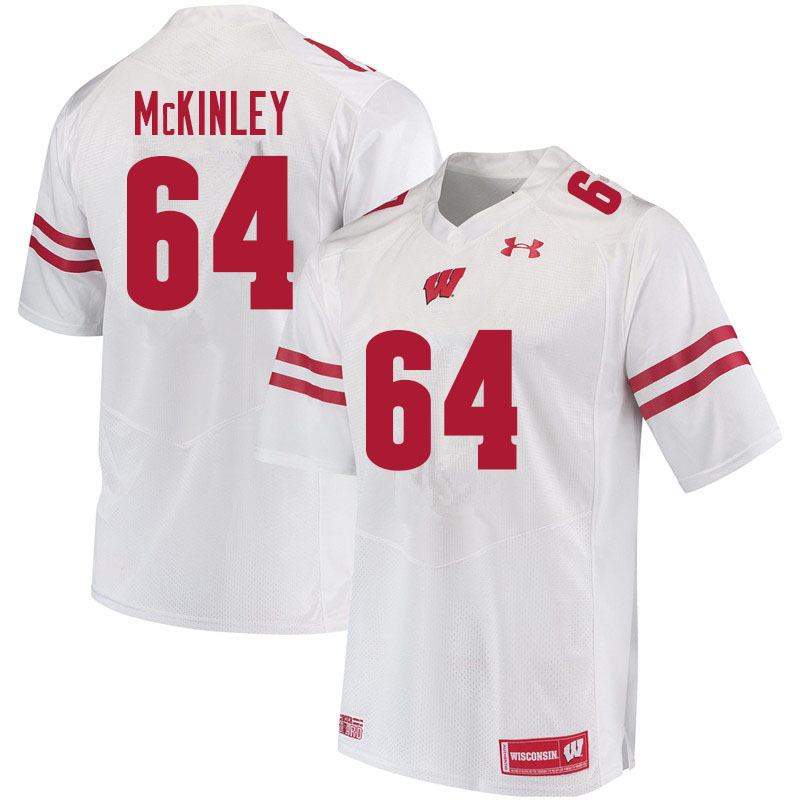 Men #64 Duncan McKinley Wisconsin Badgers College Football Jerseys Sale-White