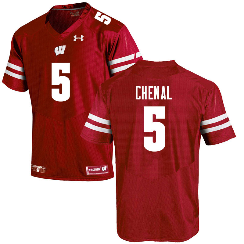 Men #5 Leo Chenal Wisconsin Badgers College Football Jerseys Sale-Red