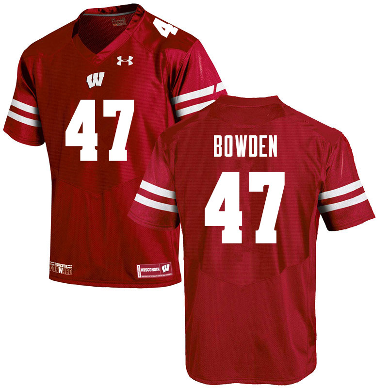 Men #47 Peter Bowden Wisconsin Badgers College Football Jerseys Sale-Red