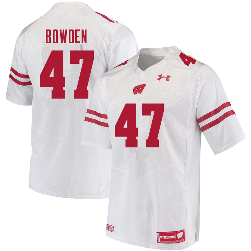 Men #47 Peter Bowden Wisconsin Badgers College Football Jerseys Sale-White