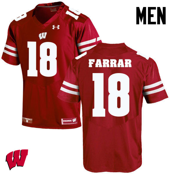 Men Wisconsin Badgers #21 Arrington Farrar College Football Jerseys-Red