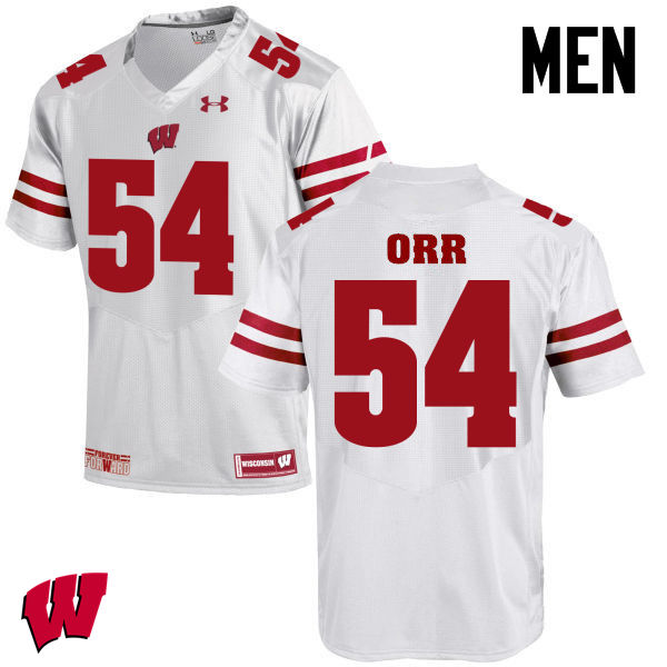 Men Winsconsin Badgers #54 Chris Orr College Football Jerseys-White