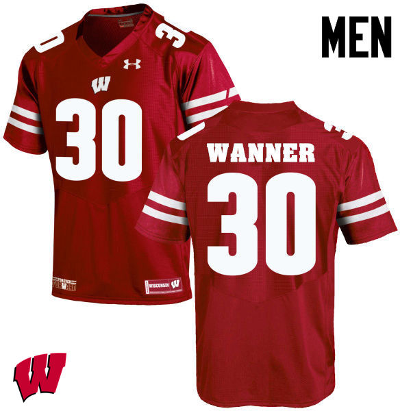 Men Winsconsin Badgers #30 Coy Wanner College Football Jerseys-Red