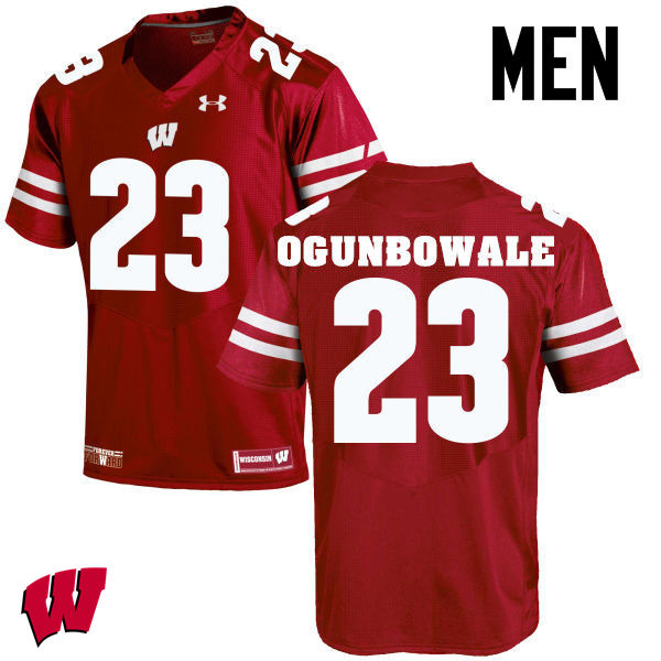 Men Wisconsin Badgers #23 Dare Ogunbowale College Football Jerseys-Red