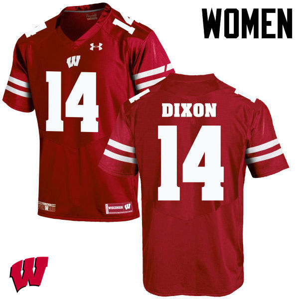Women Wisconsin Badgers #14 DCota Dixon College Football Jerseys-Red