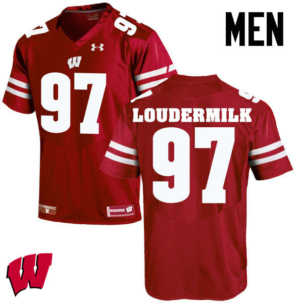 Men Wisconsin Badgers #97 Isaiahh Loudermilk College Football Jerseys-Red