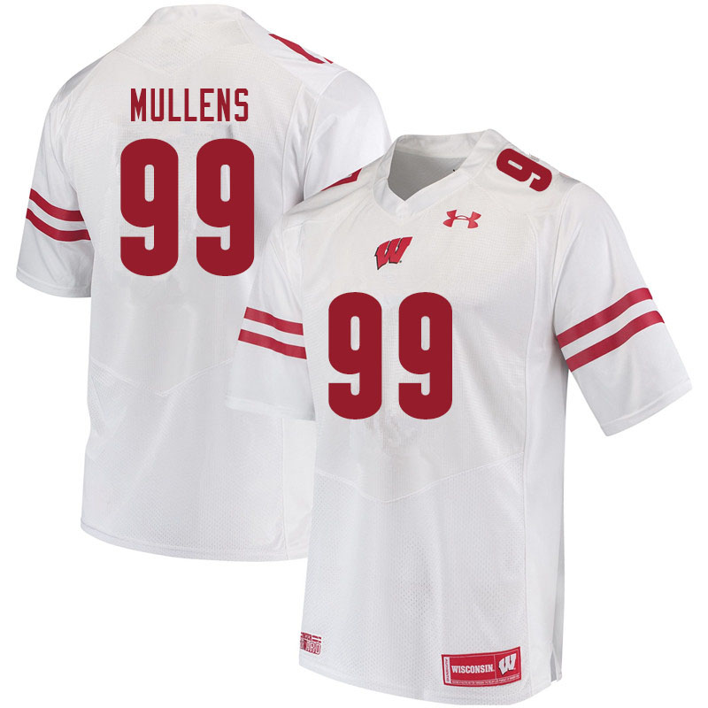 Men #99 Isaiah Mullens Wisconsin Badgers College Football Jerseys Sale-White