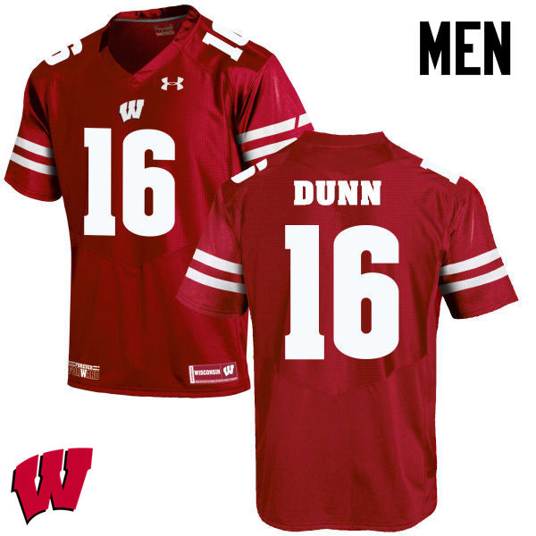 Men Winsconsin Badgers #16 Jack Dunn College Football Jerseys-Red