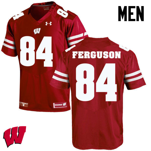 Men Winsconsin Badgers #84 Jake Ferguson College Football Jerseys-Red
