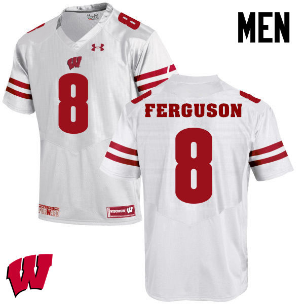 Men Wisconsin Badgers #36 Joe Ferguson College Football Jerseys-White