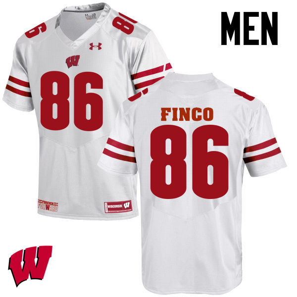 Men Wisconsin Badgers #86 Ricky Finco College Football Jerseys-White