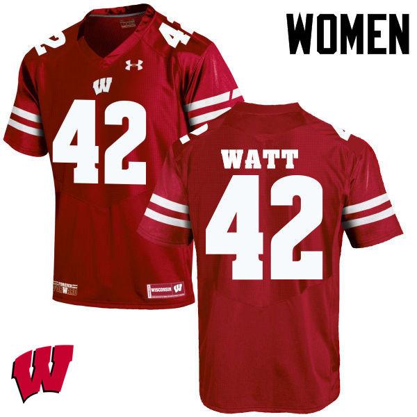 online store c2d33 583b0 T.J. Watt Jerseys Wisconsin Badgers College Football Jerseys ...