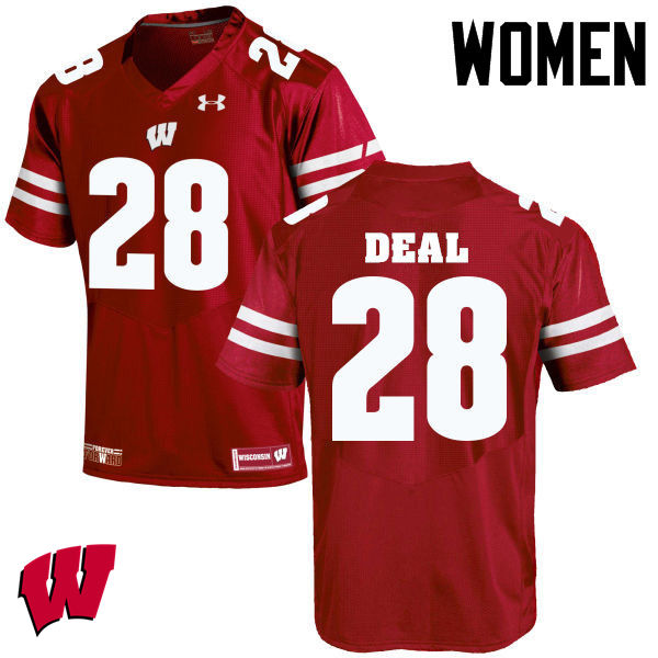 Women Wisconsin Badgers #28 Taiwan Deal College Football Jerseys-Red