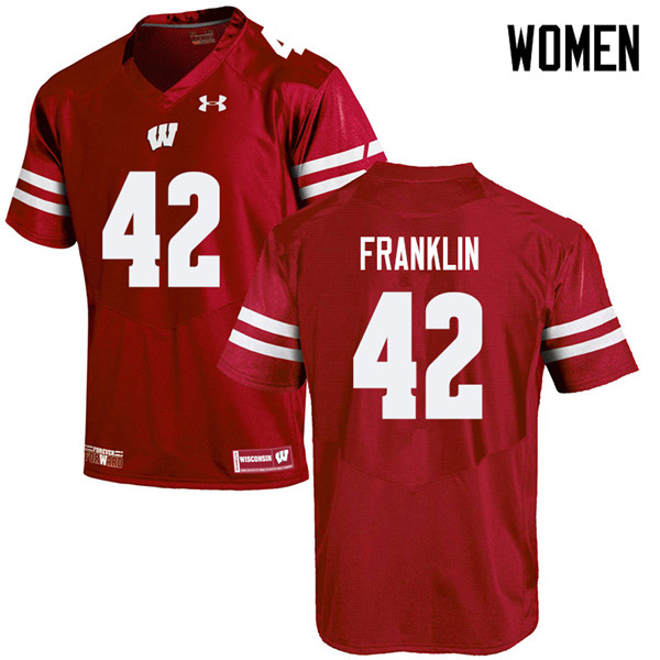 Women #42 Jaylan Franklin Wisconsin Badgers College Football Jerseys Sale-Red