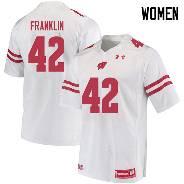 Women #42 Jaylan Franklin Wisconsin Badgers College Football Jerseys Sale-White