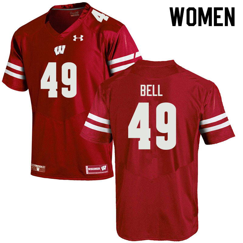 Women #49 Christian Bell Wisconsin Badgers College Football Jerseys Sale-Red