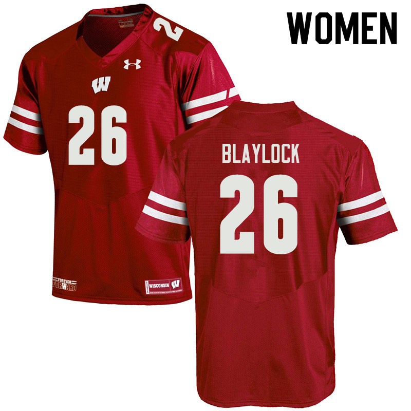 Women #26 Travian Blaylock Wisconsin Badgers College Football Jerseys Sale-Red