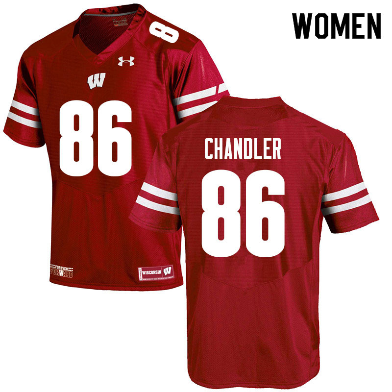 Women #86 Devin Chandler Wisconsin Badgers College Football Jerseys Sale-Red