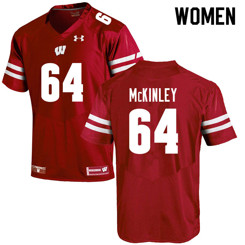 Women #64 Duncan McKinley Wisconsin Badgers College Football Jerseys Sale-Red