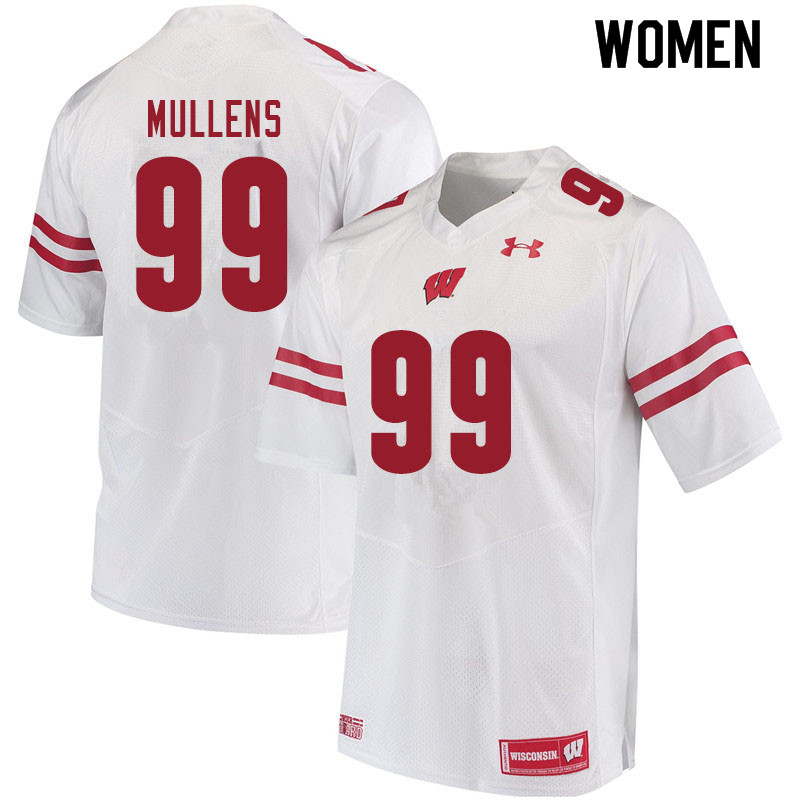 Women #99 Isaiah Mullens Wisconsin Badgers College Football Jerseys Sale-White
